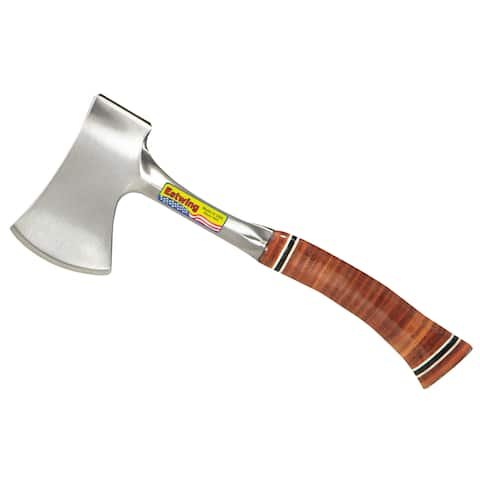 """Estwing E14A 12"""" Sportsman's Axe With Leather Grip"""