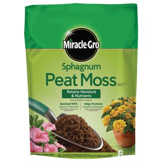 Miracle Gro 85278430 8-quart Miracle-Gro Sphagnum Peat Moss 0.19-0.11-0.15