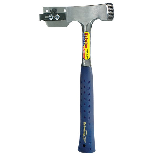 """Estwing E3-CA 12.5"""" 2.63 Lbs Milled Face Shingler's Hammer"""