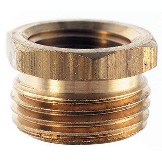 Plumb Craft Waxman 7410300N 3/4-inch X 1/2-inch Brass Hose To Pipe Adapter