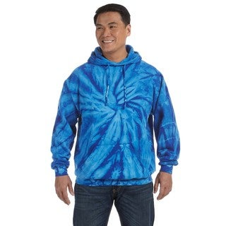 Men's Big and Tall Tie-Dyed Spider Royal Pullover Hood