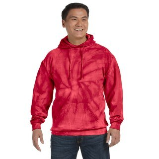 Men's Big and Tall Tie-Dyed Spider Red Pullover Hood