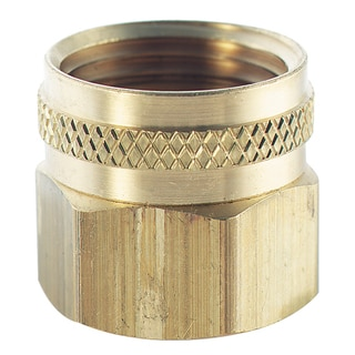 Plumb Craft Waxman 7410400N 3/4-inch X 1/2-inch Brass Swivel Hose To Pipe Adapter