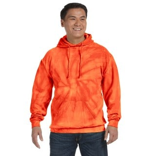 Men's Big and Tall Tie-Dyed Spider Orange Pullover Hood