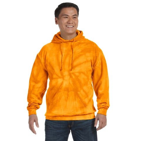Men's Big and Tall Tie-Dyed Spider Gold Pullover Hood