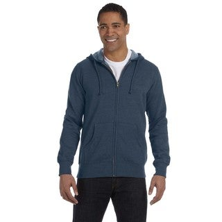 Men's Big and Tall Organic/Recycled Heathered Full-Zip Water Hooded Jacket