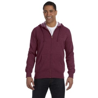 Men's Big and Tall Organic/Recycled Heathered Full-Zip Berry Hooded Jacket