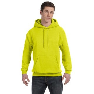 Men's Big and Tall Comfortblend Ecosmart 50/50 Pullover Safety Green Hooded Jacket