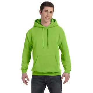 Men's Big and Tall Comfortblend Ecosmart 50/50 Pullover Lime Hooded Jacket