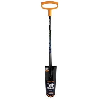 Fiskars 96546925J 46-3/4-inch Black & Orange D Handle Spade