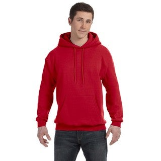 Men's Big and Tall Comfortblend Ecosmart 50/50 Pullover Deep Red Hooded Jacket