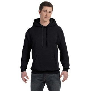 Men's Big and Tall Comfortblend Ecosmart 50/50 Pullover Black Hooded Jacket