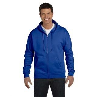 Men's Big and Tall Deep Royal Comfortblend Ecosmart 50/50 Full-Zip Hood