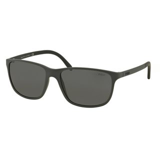Polo by Ralph Lauren Men's PH4092 Grey Plastic Square Sunglasses