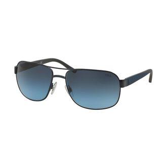 Polo by Ralph Lauren Men's PH3093 Blue Metal Square Sunglasses