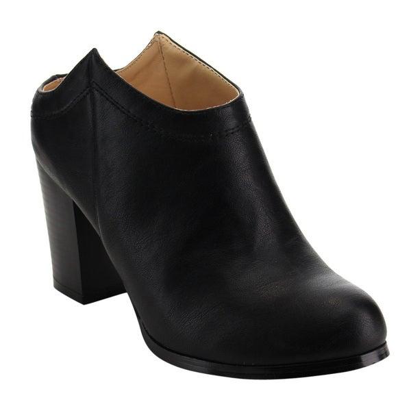 82b67e2f5e1 Shop Chase   Chloe ED02 Women s Stitched High-stacked Chunky Heel ...