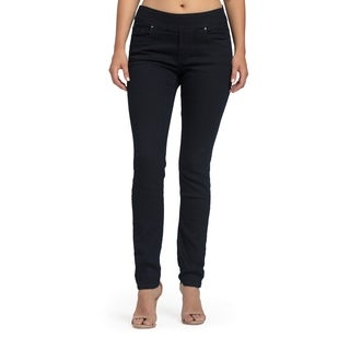 Bluberry Women's Iris Plus-size Midnight Blue Slim Leg Denim