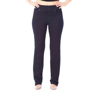 Bluberry Women's Azure Midnight Blue Plus Size Straight-leg Denim Pants