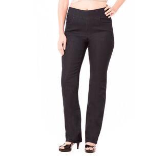 Bluberry Women's Julia Black Rinse Denim Plus-size Straight Leg Pants|https://ak1.ostkcdn.com/images/products/12398140/P19218945.jpg?impolicy=medium
