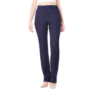 Bluberry Women's Hayden Indigo Denim Straight-leg Pants