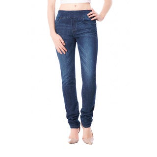 Bluberry Women's Sienna Medium Wash Slim Leg Denim Pants (Option: 30)