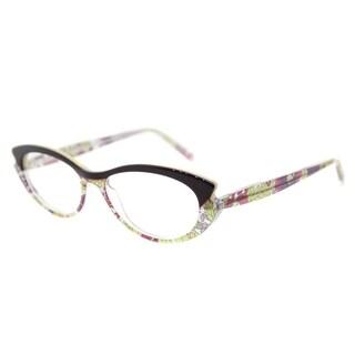 Lafont LF Saveur 7046 Purple Floral Plastic 53-millimeter Cat-Eye Eyeglasses