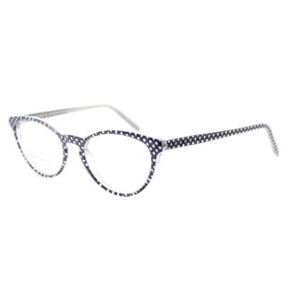 Lafont LF Simone 3063 Navy Poka Dot Plastic 51-millimeter Cat-eye Eyeglasses
