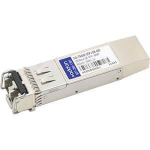 AddOn Fortinet FG-TRAN-SFP+SR Compatible TAA Compliant 10GBase-SR SFP+ Transceiver (MMF, 850nm, 300m, LC, DOM)