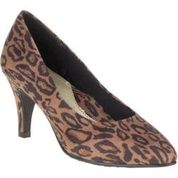 Women's Soft Style Raylene Pump Chic Leopard Faux Suede