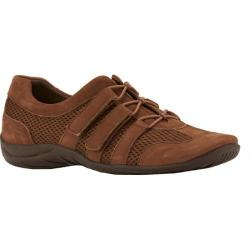 Women's Walking Cradles Audio Lace Up Earth Roughout Leather/Mesh