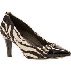 Women's Walking Cradles Sophie Pump Zebra Hair Calf/Black Patent