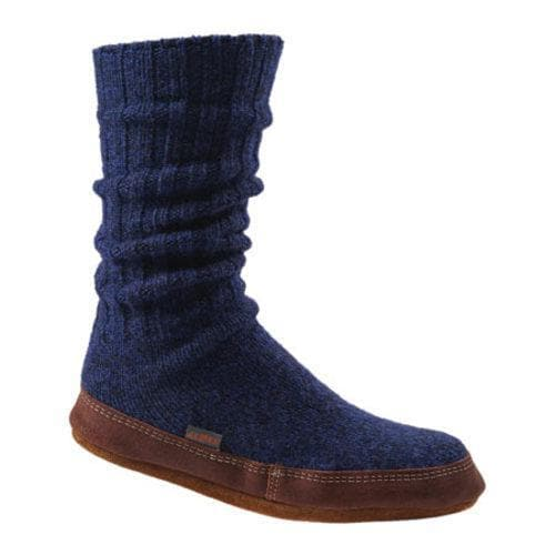 Acorn Slipper Sock Cobalt Ragg Wool