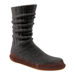 Acorn Slipper Sock Charcoal Ragg Wool
