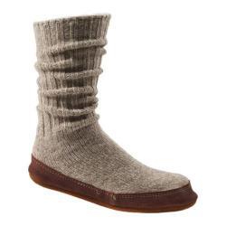 Acorn Slipper Sock Red Stripe Ragg Wool