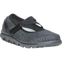 Women's Propet TravelActiv Mary Jane Black/Grey Heather Nylon Mesh/Polyurethane