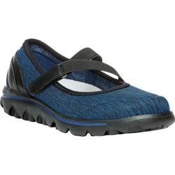 Women's Propet TravelActiv Mary Jane Black/Navy Heather Nylon Mesh/Polyurethane