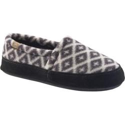 Women's Acorn Acorn Tex Moc Slipper Black/Cream Southwest