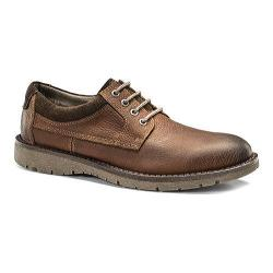 Men's Dockers Banewell Plain Toe Derby Red Brown Crazy Horse Leather