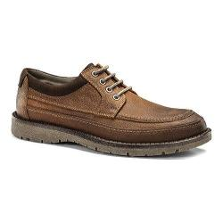 Men's Dockers Eastview Moc Toe Derby Red Brown Oiled Tumbled Full Grain Leather