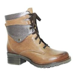 Women's Dromedaris Kara Met Emboss Lace Up Boot Saddle Leather