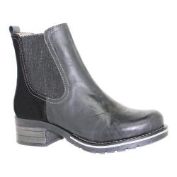 Women's Dromedaris Kourtney Chelsea Boot Black Leather/Suede (More options available)