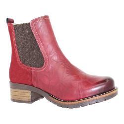 Women's Dromedaris Kourtney Chelsea Boot Ruby Leather/Suede