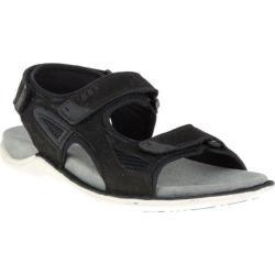 Men's Hush Puppies Rawson Grady Sandal Black Waxy Leather