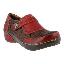 Women's L'Artiste by Spring Step Rokas Slip On Red Multi Leather