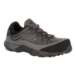 Men's Rocky 4in Broadhead Composite Toe Sneaker Grey Black Synthetic Mesh