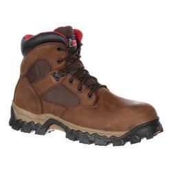 Men's Rocky 6in AlphaForce Composite Toe Waterproof Boot Brown Full Grain Leather/Nylon