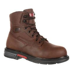 Men's Rocky 6in Ironclad LT Waterproof Work Boot Brown Full Grain Leather/Nylon