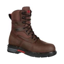 Men's Rocky 8in Ironclad LT Waterproof Work Boot Brown Full Grain Leather/Nylon