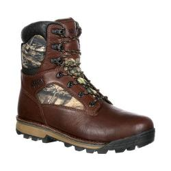 Men's Rocky 8in Traditions Waterproof Outdoor Boot RKS0259 Brown Mossy Oak Break Up Country Leather/Nylon