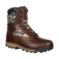 Men's Rocky 8in Traditions Waterproof Outdoor Boot RKS0259 Brown Mossy Oak Break Up Country Leather/Nylon